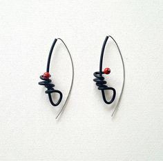 Contemporary earrings Rubber earrings Long earrings Christmas