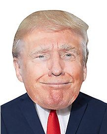 Giant Smirking Donald Trump Head Mask - Look like Donald Trump without having to put on a wig or makeup with this hilariously large mask! Trump Mask, Head Mask, Halloween Masks, Donald Trump, Wigs, Celebrities, Political Party, People, Horses