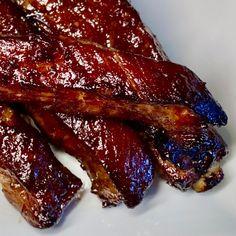 Oven Pork Ribs, Sticky Pork Ribs, Ribs Recipe Oven, Pork Spare Ribs, Bbq Ribs, Oven Roasted Ribs, Pork Back Ribs, Bbq Pork, Pork Chop