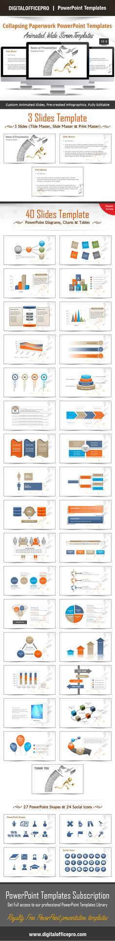 Impress and Engage your audience with Collapsing Paperwork PowerPoint Template and Collapsing Paperwork PowerPoint Backgrounds from DigitalOfficePro. Each template comes with a set of PowerPoint Diagrams, Charts & Shapes and are available for instant download.