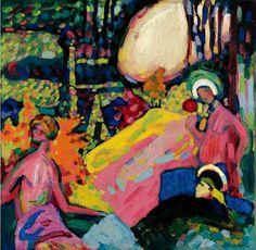 Vasily Kandinsky - White Sound, 1908