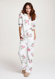 Vintage Rose Pyjamas | Cotton & Silk Pyjamas | hush | hush-uk.com