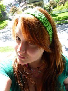 Stretchy Crochet Headband by BombshellsExploits on Etsy, $7.00