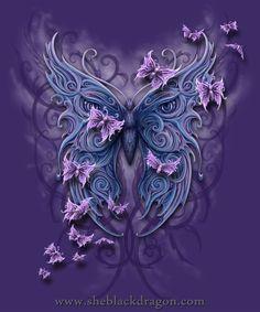 Butterfly Tribal - T-shirt design © Spiral Direct