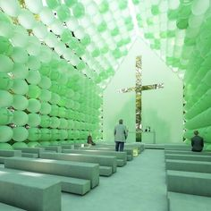 town and concrete's green chapel in the woods