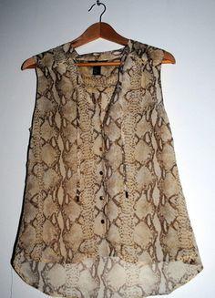 Kup mój przedmiot na #vintedpl http://www.vinted.pl/damska-odziez/bluzki-bez-rekawow/8028047-waz-czy-nie-waz-mgielka-hm-wezowy-wzor-rozm-44
