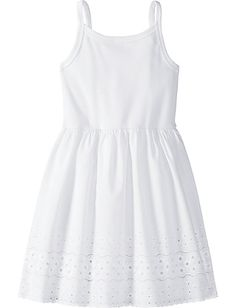 Cotton Eyelet Slip--attach eyelet fabric to a white tank top! Then I can make it the length I need for my girl.
