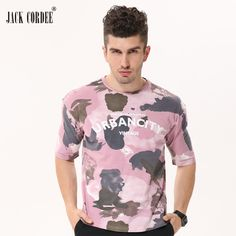 mens summer fashion JACK CORDEE Mens Fashion Camouflage T Shirts 2017 Short Sleeve Loose Hip Hop T-Shirt Streetwear Men Swag 100% Cotton Top Tees * Shop now for Xmas. Click the image to view the details on  AliExpress.com.