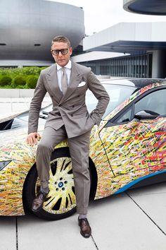 BMW and Garage Italia Customs have created the BMW Futurism Edition to celebrate 50 years of BMW history in Italy. Lapo Elkann, Bmw I8, In The Heights, Suit Jacket, History, Celebrities, Futurism, Electric, Garage