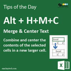Are you aware with this #ShortcutKey !! Using Alt +M+C (Shortcut Key) in #MicrosoftExcel merge and center text.