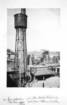 De Utrechtsche Asphaltfabriek 1912, voorheen firma Stein en Takken. Gebied Kromme Rijn - Gansstraat.  Rond 1900 voltrekt zich in Utrecht een ware industriële revolutie. Bekende bedrijven uit die tijd zijn: zilverfabriek Begeer, sigarenfabriek G. Ribbius Peletier, de machinefabrieken Pannevis en Zoon, Drakenburgh en Smulders, de Lood- en Zinkpletterij v.h. A.D. Hamburger, Fouragehandel en Voederkoekenfabriek v.h. Hooghiemstra, de Stichtsche Bank en de drukkerijen Bosch en Boekhoven.