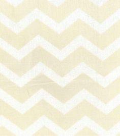 Home Essentials 45'' Print Fabric Chevron Cream, , hi-res