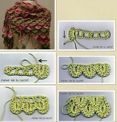 Tutorial Punto Cocodrilo o Escama - Patrones Crochet