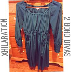 Xhilaration Jade Blue Stylish Dress XL NWOT Brand new without tags. Never got around to wearing it. Open to offers or bundling. Xhilaration Dresses Midi