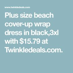 Plus size beach cover-up wrap dress in black,3xl with $15.79 at Twinkledeals.com.