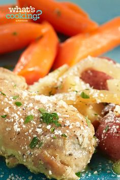 Slow-Cooker Garlic-Parmesan Chicken #recipe