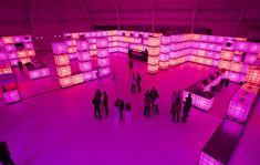 .....plastic tanks with lights