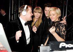 Pin for Later: La Question Est: Avec Qui Ellie Goulding N'est-Elle Pas Amie? Ellie Goulding Avec James Corden, Taylor Swift, et Jeremy Irvine
