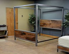 """Find out additional info on """"murphy bed ideas ikea queen size"""". Look into our web site. Best Murphy Bed, Murphy Bed Ikea, Murphy Bed Plans, Steel Bed Design, Cama Industrial, Horizontal Murphy Bed, Steel Bed Frame, Modern Murphy Beds, Industrial Furniture"""