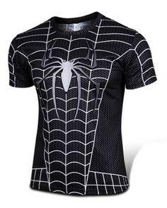 Spider-Man black T shirts for men plus size t-shirts -