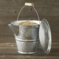 Galvanized Garden Pail with Lid