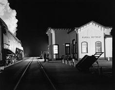 Train #17, the Birmingham Special, arriving at Rural Retreat. Rural Retreat, Virginia, December 26, 1957
