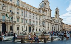 Learn about the fascinating Rome Piazza Navona, its fountains, history and monuments. When you visit Rome you'll enjoy the Piazza Navona, Rome, Italy twice as much. Piazza Navona, Rome Travel, Travel Tours, Rome Italy, Venice Italy, Rome Streets, Rome Tours, Gian Lorenzo Bernini, Most Haunted
