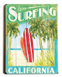 Cool California vintage poster