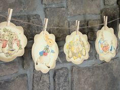 Vintage Peter Rabbit Banner  Decoration for Baby Shower, Easter by CharesClaire, $5.00