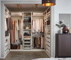Concevoir son dressing - IKEA Ikea Dressing Room, Dressing Room Design, Ikea Pax Wardrobe, Wardrobe Design, Walk In Closet, Pax Closet, Ikea Closet, Closet Designs, Closet Bedroom