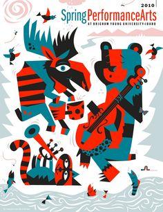 Performing & Visual Arts Brochure: Cover Illustration   Tony Carpenter