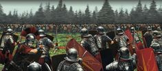 Roman Legion vs Germanic tribesmen in Germania Battle Of Alesia, Imperial Legion, Romulus And Remus, Roman Warriors, Roman Legion, Roman Columns, Classical Antiquity, Medieval World, Early Middle Ages
