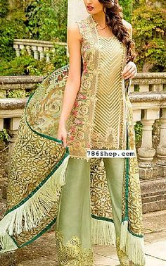 Pistachio Green Chiffon Suit | Buy Sobia Nazir Pakistani Dresses and Clothing online in USA, UK
