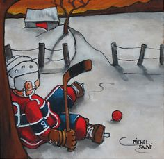 Maurice Richard, Hockey Cards, Montreal Canadiens, Learn To Paint, Whimsical Art, Painting For Kids, Cool Art, Seasons, Superhero