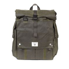 Barbour X Universal Works Green Alliance Backpack: The Barbour x Universal Works Alliance Backack in Olive Green. What do you get when two great British brands decide to fuse their talents together, a great array of products that's what. Here we have the outdoor masters Barbour teaming up with workwear aficionados Universal Works it what seems to be the next best assortment of luggage in the market.