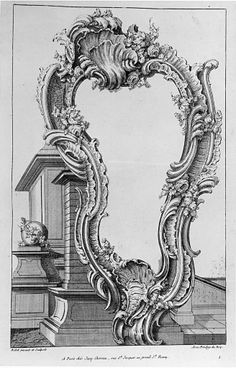 """Print, """"Cartouche placed in font of a Pedestal"""", 75 Collection of Smithsonian Cooper-Hewitt, National Design Museum Vintage Architecture, Architecture Drawings, Antique Brass Chandelier, Wood Burning Patterns, Islamic Art Calligraphy, Rococo Style, Paper Frames, Acanthus, Detail Art"""