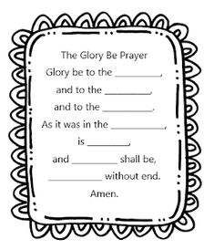 Glory Be Prayer worksheet for CCD, Sunday School, and Catechism teachers, grades K, and 3 by Little Miss Catechist. Catholic Religious Education, Catholic Catechism, Catholic Kids, Catholic Prayers, Catholic School, Roman Catholic, Ccd Activities, Religion Activities, Teaching Religion