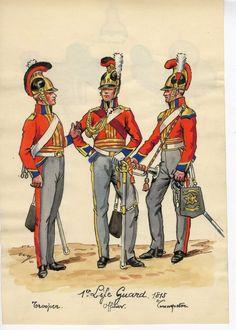 Waterloo 1815, Battle Of Waterloo, British Uniforms, Napoleonic Wars, Lifeguard, British Army, Great Britain, Military, Cobra