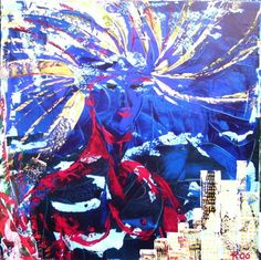 New york, schilderij van Kuhlmann Kunst, Twan Kuhlmann | Abstract | Modern…