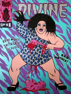 """""""Divine Comics No. 1"""", painting by Ed Luce, Wuvable Oaf"""