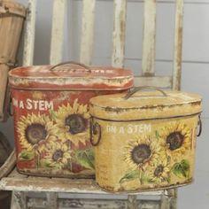 country daisy kitchen decor | Details about NEW RAZ Sunflower Canister Set Kitchen Garden Decor CC