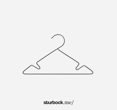 Kleiderbügel im 3er-Set aus Metall: http://sturbock.me/portfolio/kleiderbuegel-10/