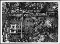 An aerial view of The New York Botanical Garden snapped in 1921.