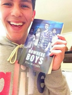 So cute with his book cant wait to read it Nowhere Boys, Lew Ayres, Nick Adams, Every Witch Way, Netflix, Scott Adkins, David Arquette, Frankie Avalon, Desi Arnaz