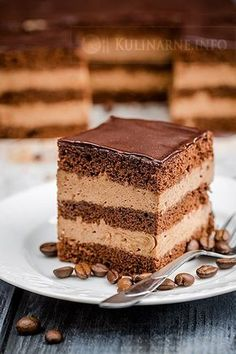 Cake nature fast and easy - Clean Eating Snacks Polish Desserts, Polish Recipes, Sweet Recipes, Cake Recipes, Dessert Recipes, First Communion Cakes, Different Cakes, Mocca, Food Cakes