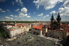 my favorite square in Prague...dipity.com