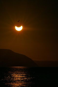 Partial solar eclipse in Tana, Finnmark, Norway