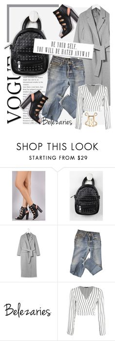 """Belezaries"" by k-lole ❤ liked on Polyvore featuring Topshop, A.P.C., Privileged and Boohoo"