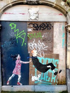 Brussels ~~~> Tintin / Street art !!!!