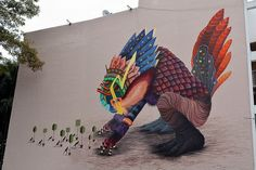 Street Artist Curiot Covers Walls Mythical Creatures